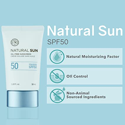 [THEFACESHOP] Natural Sun Oil-Free Sunscreen Broad Spectrum SPF 50 (50 ML /  1 69 FL OZ)