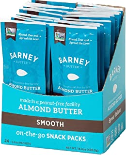 product image for Almond Butter Snack Pack, Smooth, Paleo Friendly, Keto, Non-GMO, Skin-Free, 0.6 Ounce