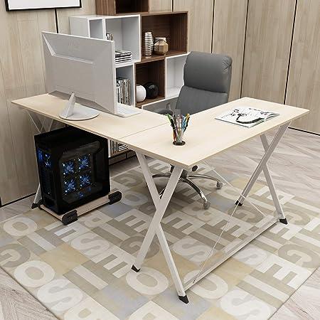 DlandHome L Mesa Escritorio de la computadora 120cm+110cm ...
