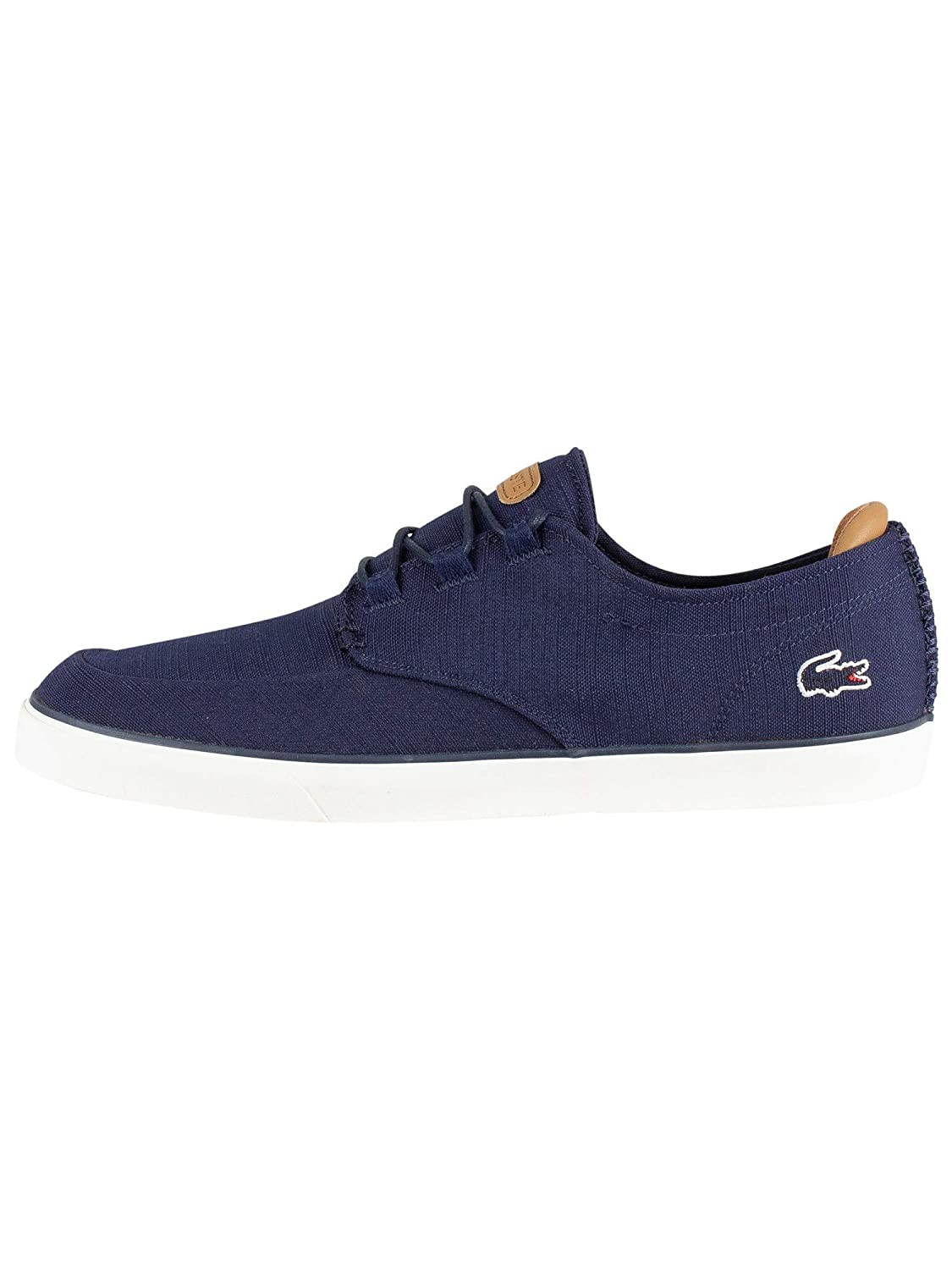 Lacoste Men/'s Ortholite Esparre Deck 119 In Navy LT Brown