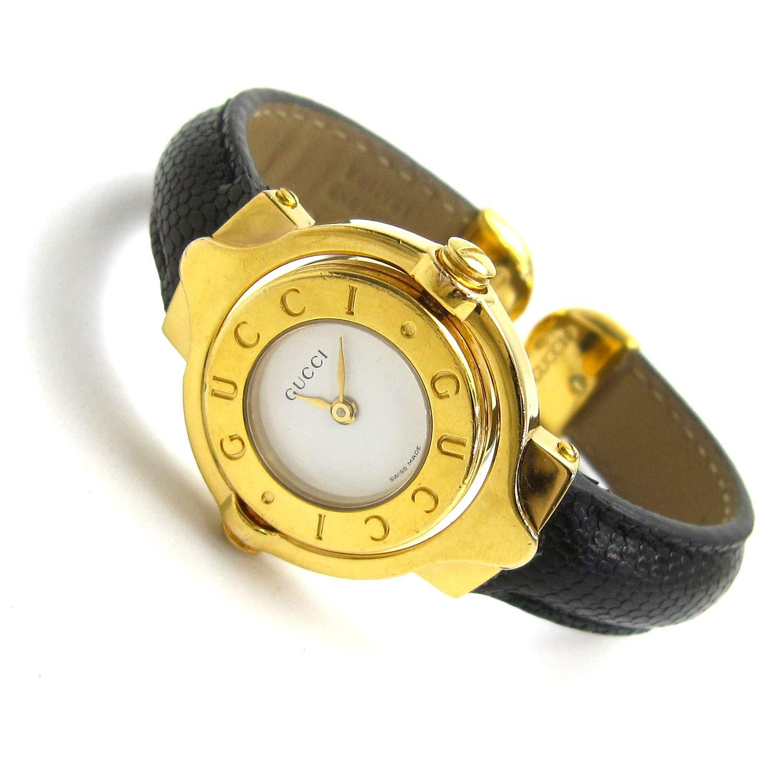 6046e17baa87 Amazon | [グッチ]GUCCI 腕時計 ターンGダイヤル ゴールド バングルウオッチ 白文字盤 watch レディース 中古 | 並行輸入品 ・逆輸入品・中古品(レディース) | 腕時計 ...