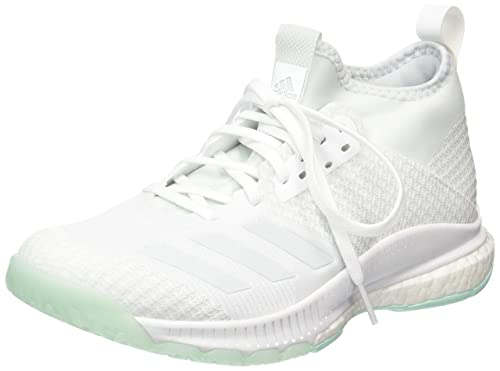 adidas Damen Crazyflight X 2 Mid Volleyballschuhe, Blanc/Argent/gris Clair