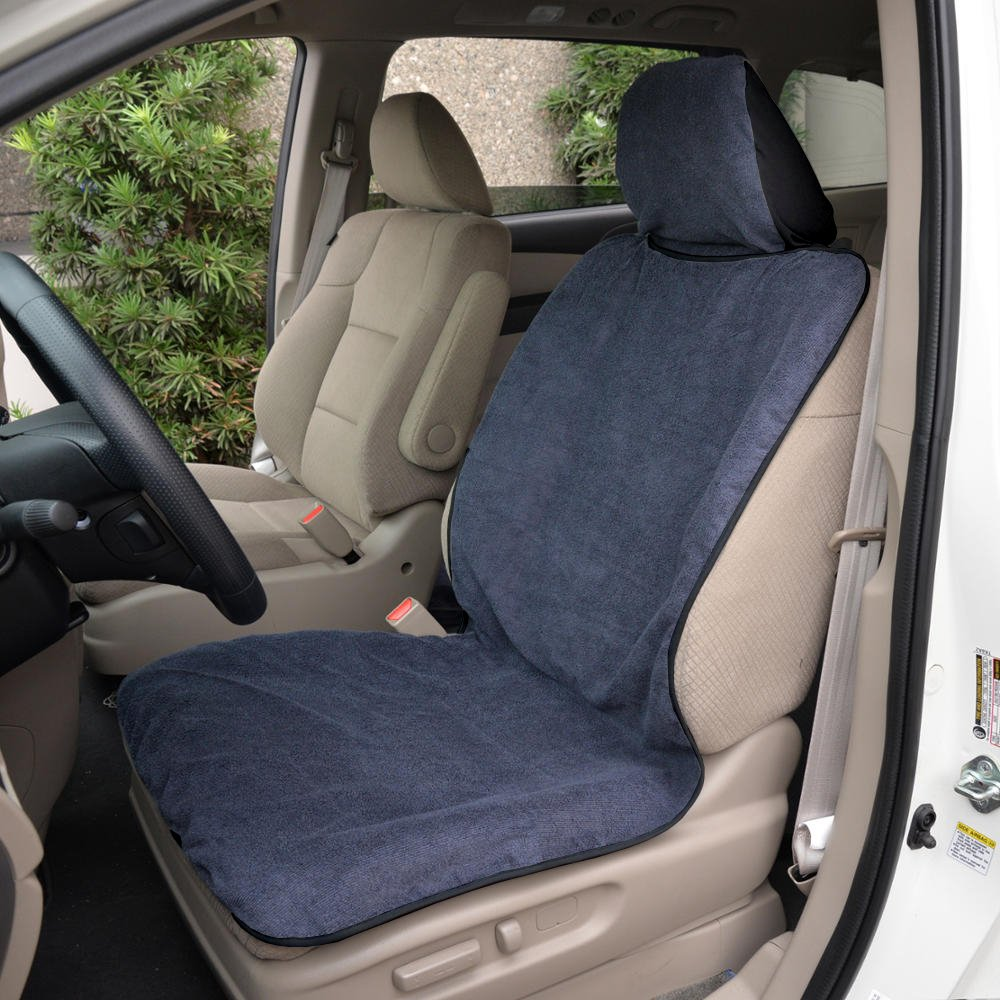 Gray// Black Yoga Towel Car Seat Covers Absorbs Sweat and Moisture for Workout
