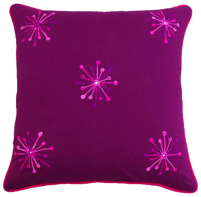 S4SassyPlaza púrpura cama y almohada caja floral fundas de ...