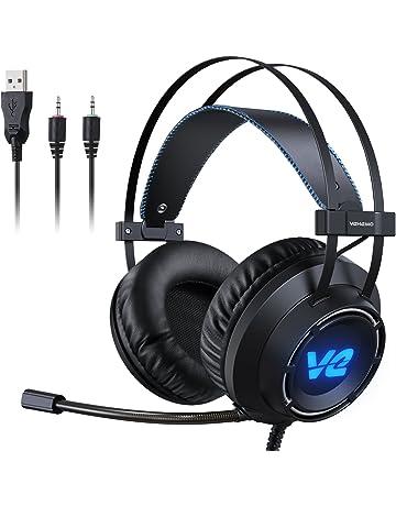 Vehemo Cascos Gaming Auriculares Profesionales Headset para PS4 PC Xbox One Mac Cancelación de Ruido con