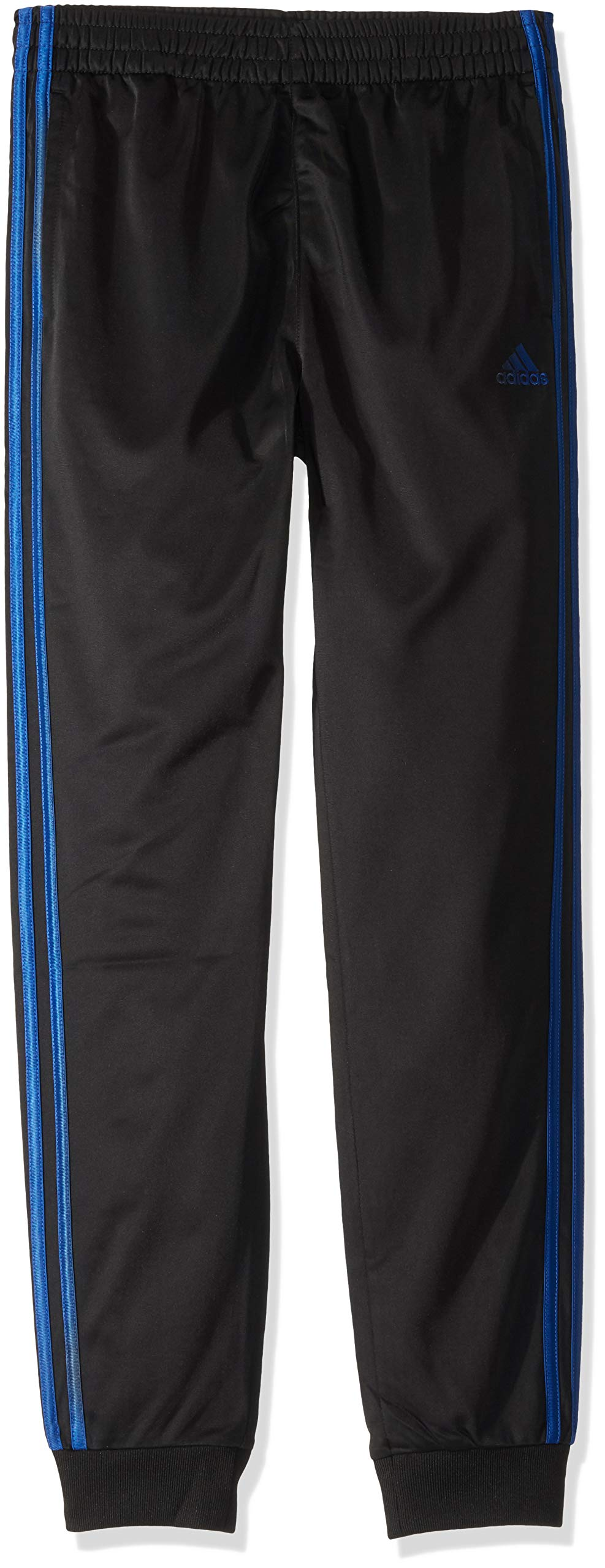 adidas Kids Boy's Impact Tricot Jogger (Big Kids) Black/Blue Small by adidas
