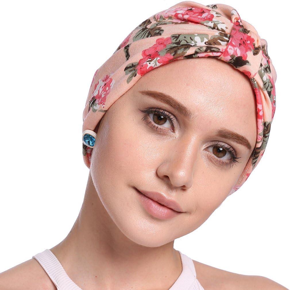 Krebs Cap Chemotherapie,Onesize Chemo hikong 2pcs Frauen muslimische Kopftuch Indische Turban-H/üte Turbanm/ütze Kopfbedeckung Schlafm/ütze f/ür Haarverlust