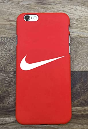 JanTacase iPhone 6/6S Funda Cover, Hot Nike Logo Just Do It Hard Plastic Phone Case Funda Cover Bumper for Apple iPhone 6/6S (rojo)