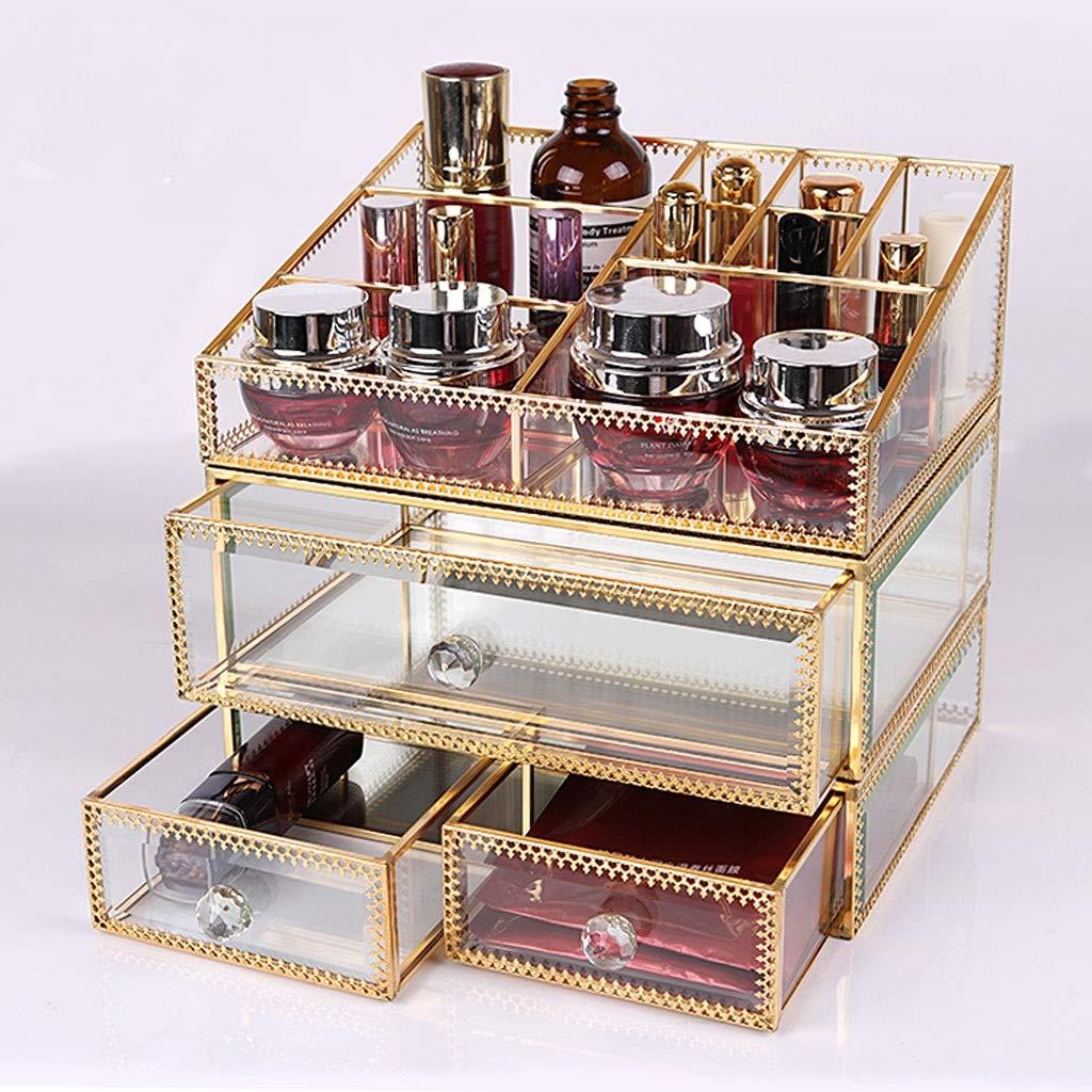 WJ ペンホルダー スポットガラス透明化粧品収納ボックスダストフリップスキンケアふたデスクトップ収納ボックス誕生日プレゼント /-/ (サイズ さいず : C) C  B07Q8R9QTL