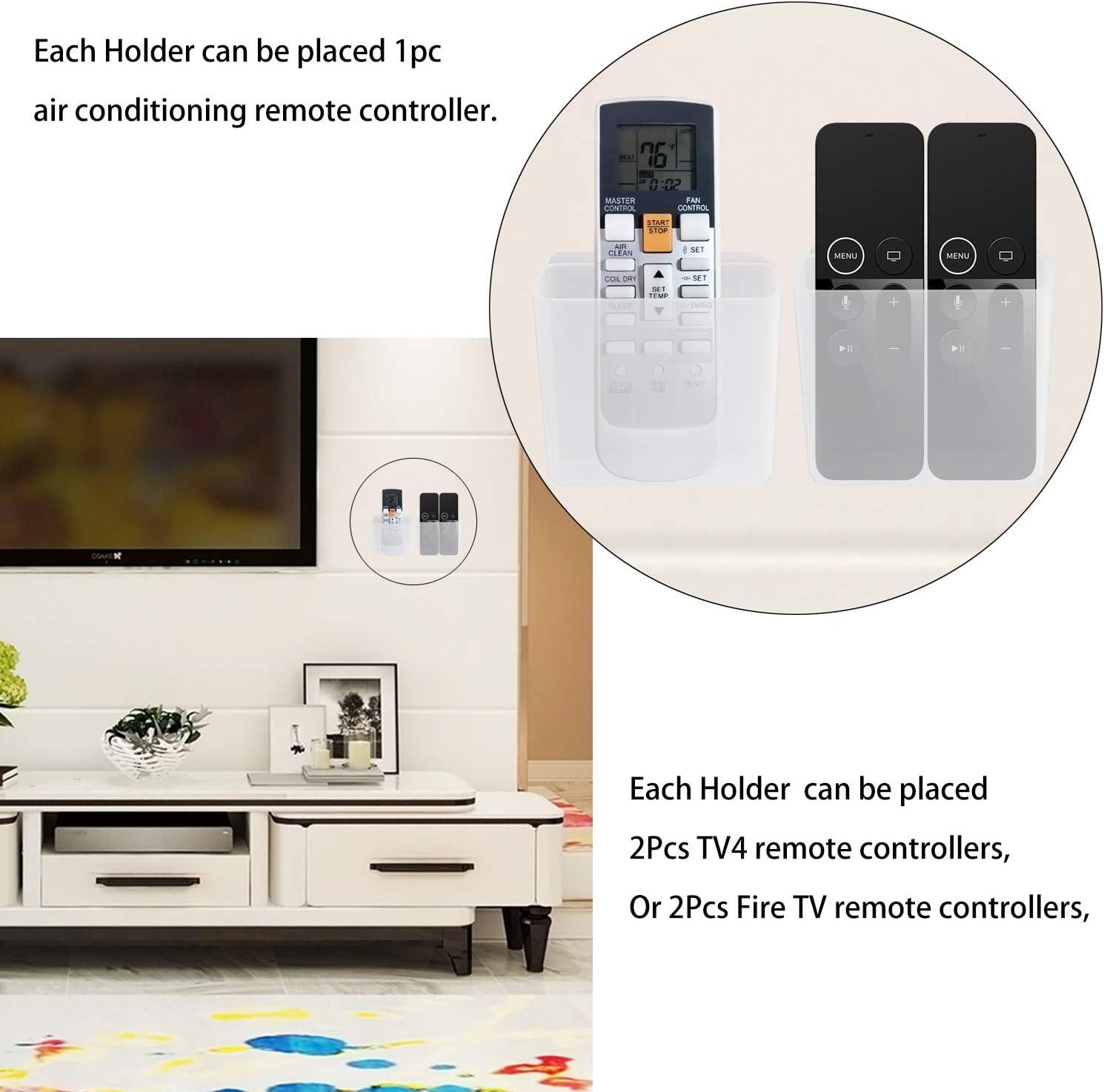 Pinowu - Soporte universal para mando a distancia, organizador de medios de montaje en pared, caja de almacenamiento autoadhesiva, accesorios de oficina Large transparente: Amazon.es: Electrónica