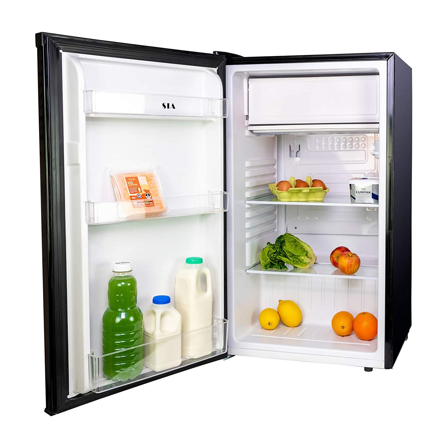 SIA LFSI01BL Black Free Standing Under Counter Fridge With Ice Box A+ Rating