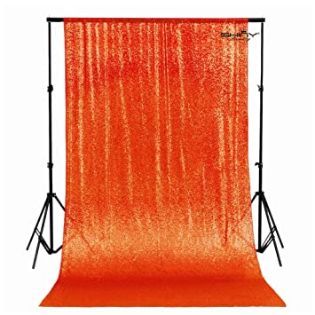 Amazoncom Photobooth Backdrop Best Choice 4ftx7ft Orange Sequin