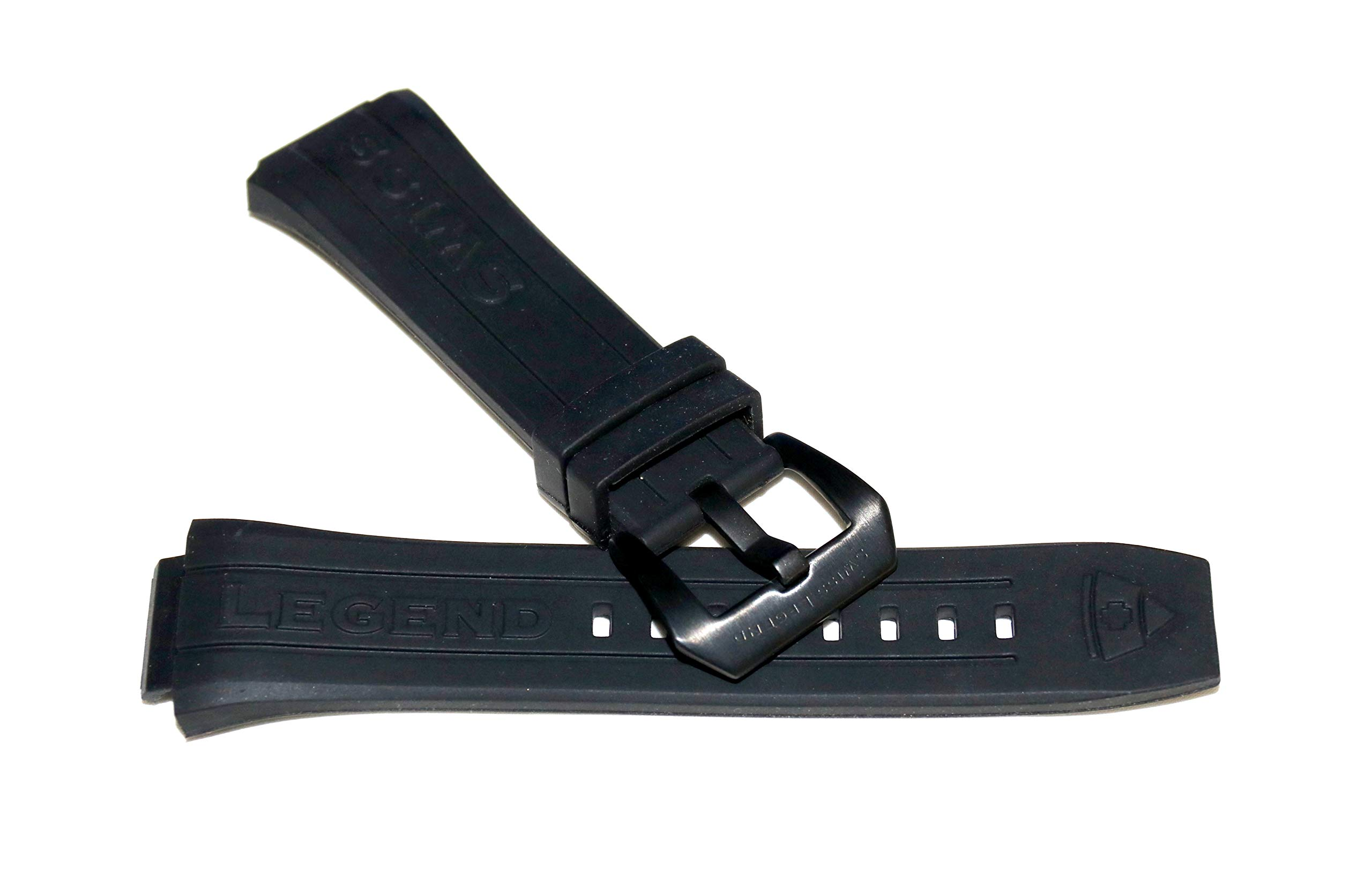 Swiss Legend 28MM Black Silicone Watch Strap Black Stainless Buckle fits 44mm Trimix Diver Watch by SWISS LEGEND (Image #3)