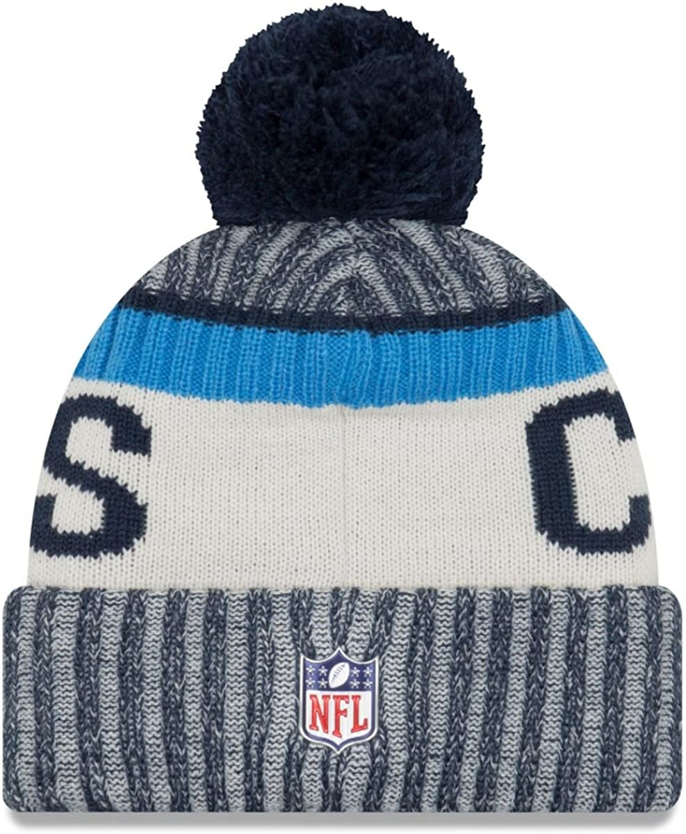 Navy Los Angeles Chargers New Era 2017 NFL Sideline On Field Sport Knit Hat