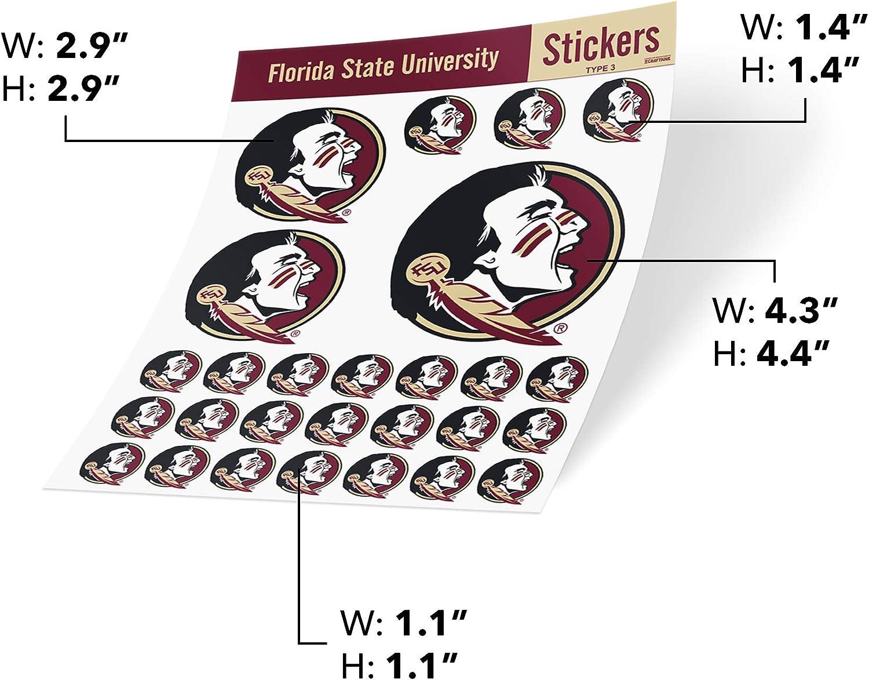 Florida State University NCAA Sticker Vinyl Decal Laptop Water Bottle Car Scrapbook Type 3 Sheet