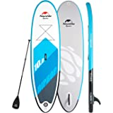 Naturehike Inflatable Stand Up Paddle Board ISUP(6 inches Thick) Universal SUP Wide Stance with Adj Paddle,Travel Backpack and Coil Leash