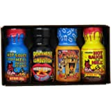 Xtreme Heat Mini Hot Sauce Collection: Pack Of 4 Mini Bottles