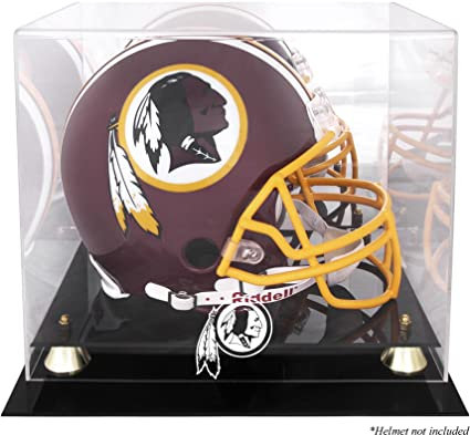 Washington Redskins Golden Classic Helmet Display Case and Mirror Back by Mounted Memories Fitness Strength Training Equipment
