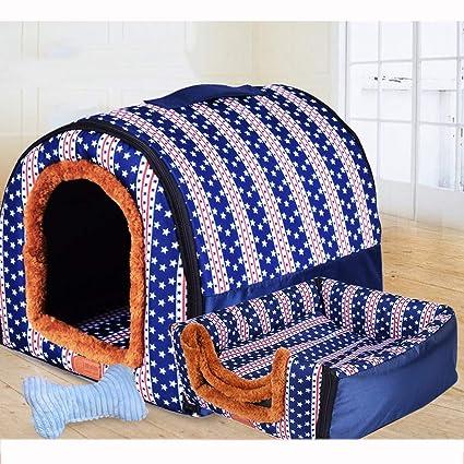 Nido para Mascotas, sofá/Cama, Tela Oxford Antideslizante + Perrera de algodón PP