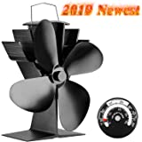 4YourHome Silent Heat Powered Stove Fan + Free Stove