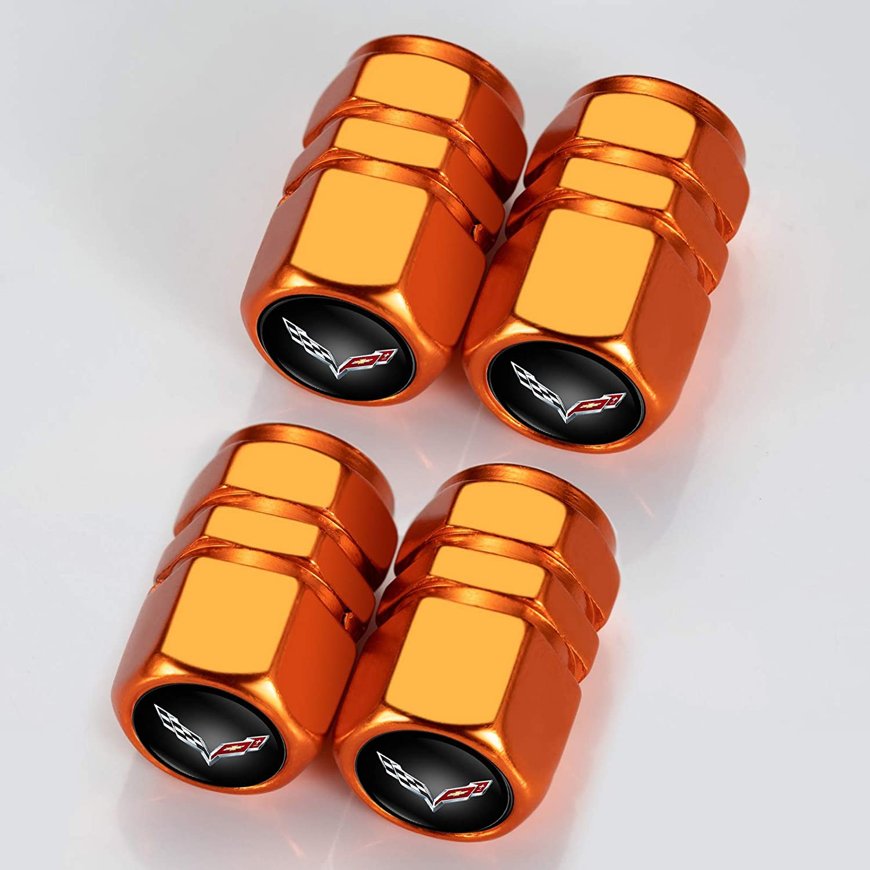4PCS Orange Menglianmin Car Wheel Tire Valve Stem Caps Logo Personality Modification Valve Cap Modeling Accessories Suit for Subaru WRX Sti Crosstrek Forester