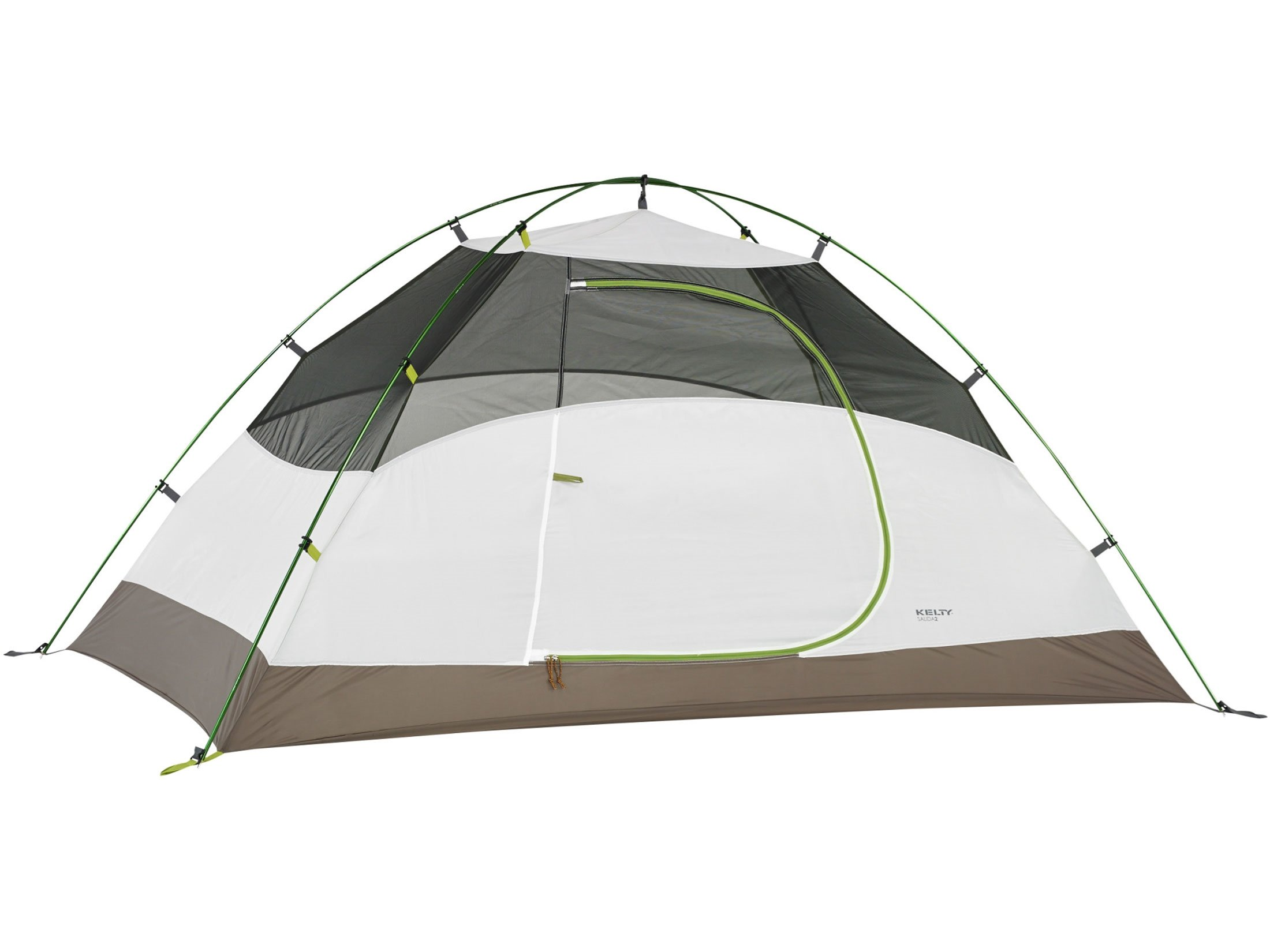 Kelty Salida 2 2 Person Dome Tent 88'' x 55/45'' x 43'' Polyester White and Lime Green
