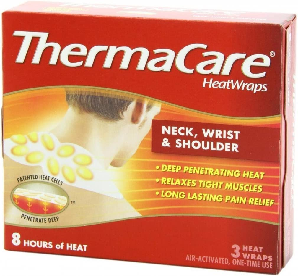 ThermaCare Air-Activated Heatwraps, Neck, Wrist & Shoulder, 3 HeatWraps (Pack of 7)