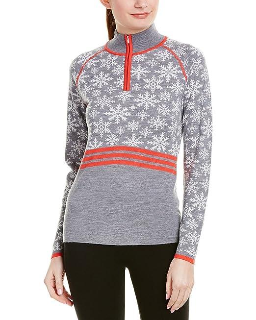 b157de36cbe Krimson Klover Eva Maria 1 4 Zip Pullover Merino Wool Sweater - (Grey