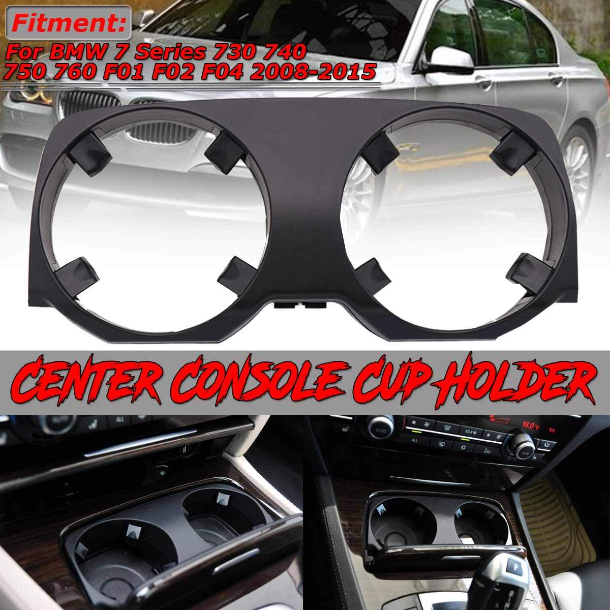 1x Car Center Console Cup Holder Car Water Cup Drink Holder Outer Cover For BMW 7 Series 730 740 750 760 F01 F02 F04 2008-2015