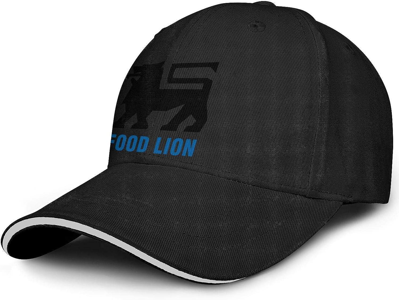 Unisex Baseball Cap Sport Messy Food-Lion- Adjustable Mesh Back Trucker Cap Visor Hats
