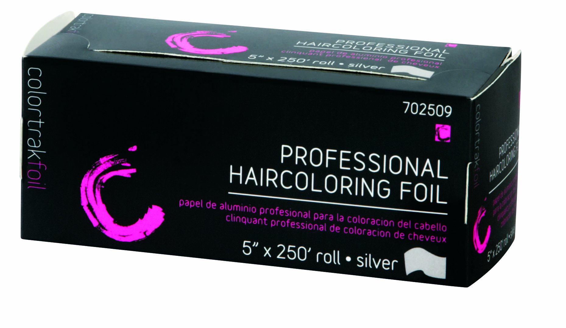 Colortrak Professional Highlighting Foil, Silver (Pack of 2 5'' x 250ft Rolls) by Colortrak