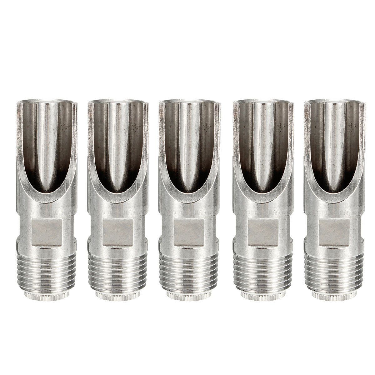 5Pcs 1/2 Inch Stainless Steel Pig Automatic Nipple Drinker Feeder Duck-Billed Waterer
