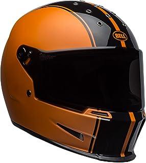 Bell Eliminator Street Motorcycle Helmet (Gloss Rally Matte Gloss Black Orange 30bc95cf25121