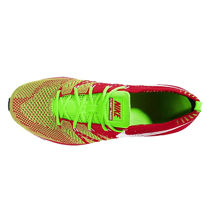 f2290859d12d31 ... netherlands amazon nike mens flyknit trainer plus university red  electric green white 7 m us fitness