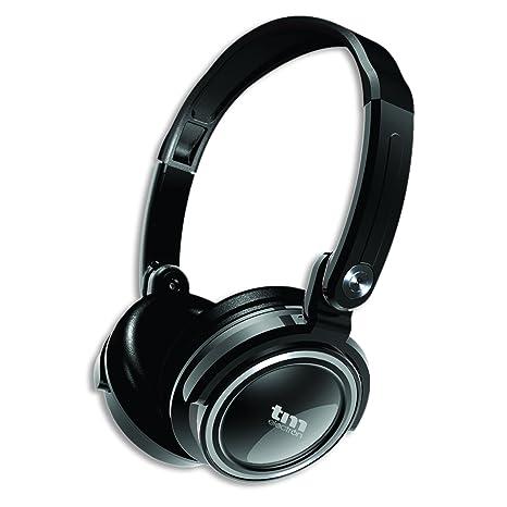 TM Electron TMHE388W - Auriculares de Diadema supraaurales Tipo DJ, Color Blanco: Amazon.es: Electrónica