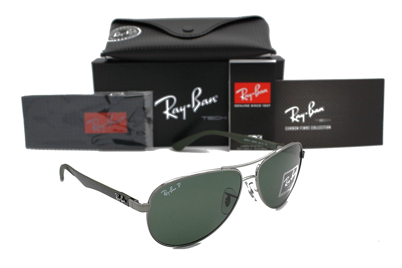 fb1ba74456ccc1 Amazon.com  RAY-BAN AVIATOR RB 8313 004 N5 58MM GUNMETAL CARBON FIBRE GREY  POLARIZED  Shoes