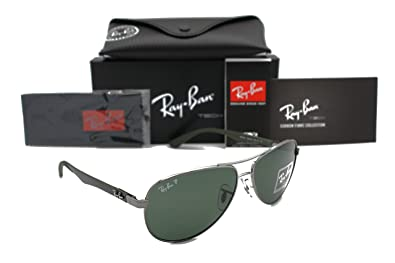 RAY-BAN AVIATOR RB 8313 004/N5 58MM GUNMETAL CARBON FIBRE GREY POLARIZED