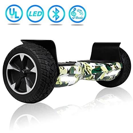 Uni Sun Off Road Hoverboard, Bluetooth Hoverboard For Kids, All Terrain Hoverboard, 8.5 Inch Two Wheel Self Balancing Hoverboard For Adult,Ul2272 Certified Hover by Uni Sun