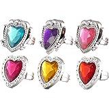 12 x Heart Finger Rings