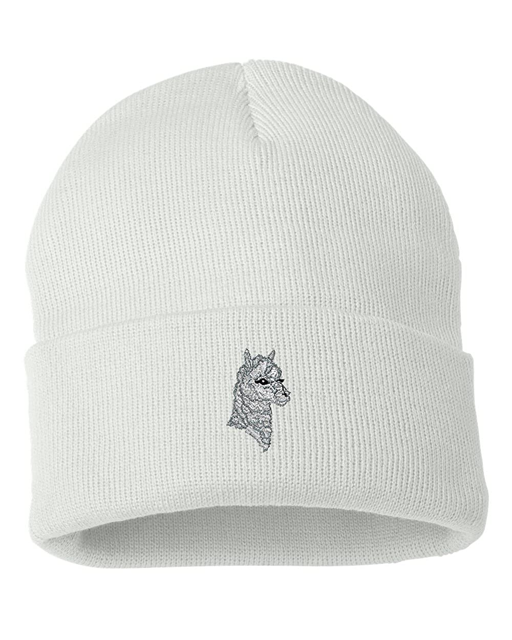 Alpaca Custom Personalized Embroidery Embroidered Beanie