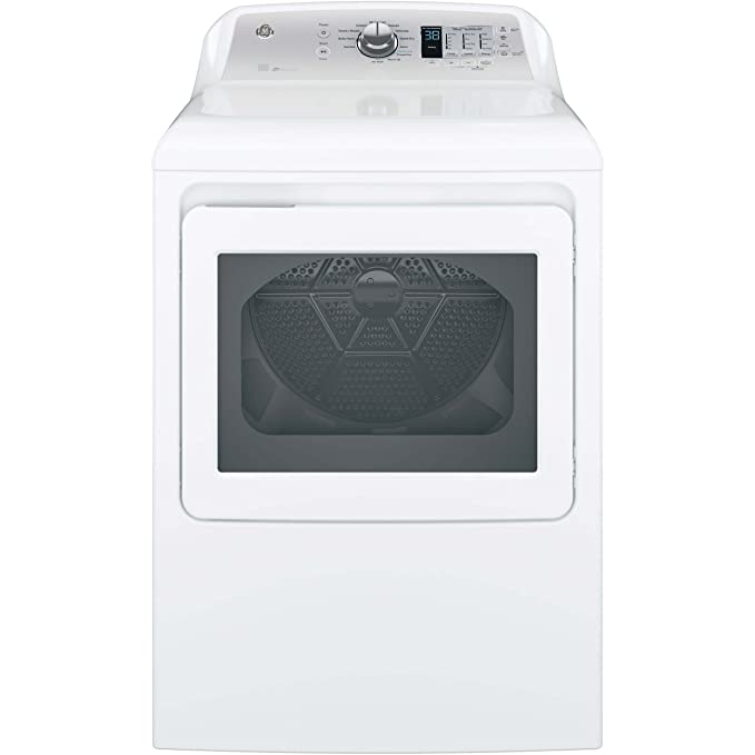 GE GTD65EBSJWS Aluminized Alloy Drum Electric Dryer with HE Sensor Dry, 7.4 Cu. Ft. Capacity, White, best electric dryers