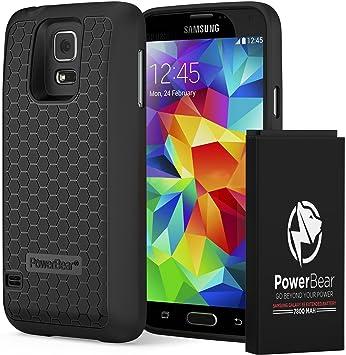 2104f0c985 PowerBearサムスン・ギャラクシー S5 7800mAh [Samsung Galaxy S5] 大容量バッテリー&バック
