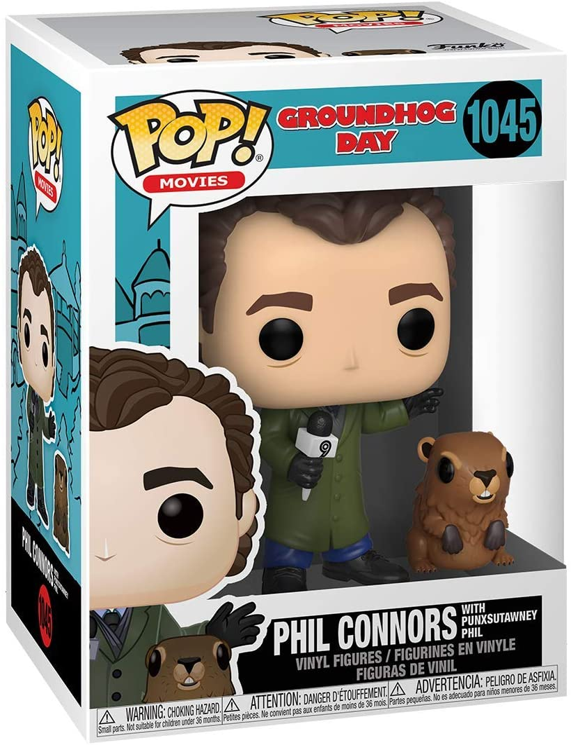 Phil with Punxsutawney Phil Multi-colored /& Buddy: Groundhog Day Funko Pop Standard