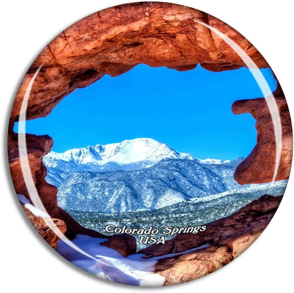 Weekino USA America Garden Of The Gods Twin Sisters Colorado Springs Fridge Magnet Travel Souvenir City Collection 3D Crystal Glass Gift Strong Refrigerator Sticker