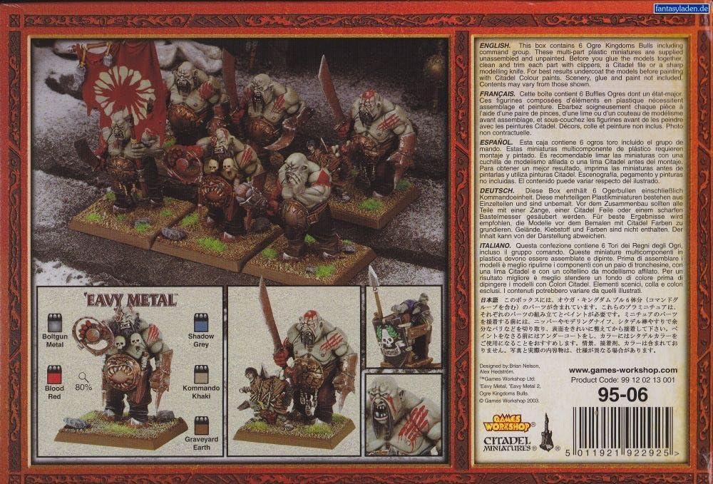 Warhammer 95-06. Regimiento Guerreros Ogros Toro: Amazon.es: Juguetes y juegos