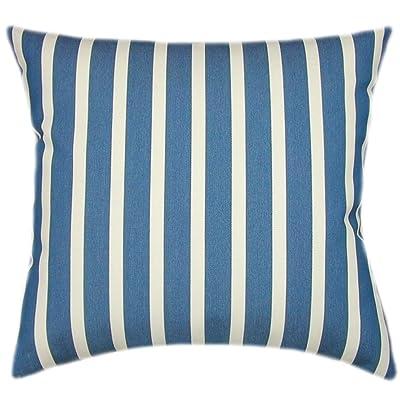 TPO Design, Sunbrella Shore Regatta Indoor/Outdoor Striped Patio Pillow 16x16: Home & Kitchen