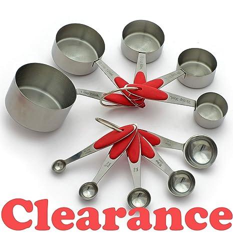 Amazon.com: Vasos de cocina – Juego de hornear – Cucharas ...
