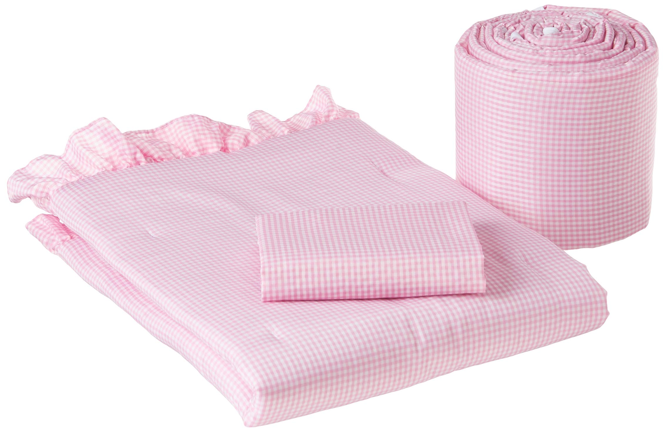 Babydoll Pink Gingham Cradle Bedding, 18'' x 36'' by BabyDoll Bedding