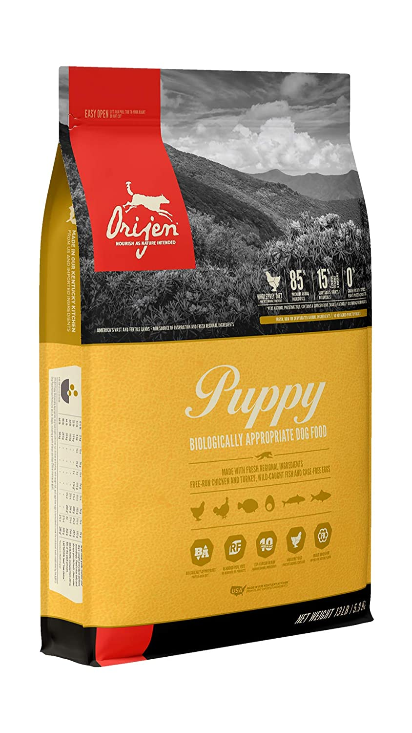 1.Orijen Puppy High-Protein Grain-Free Premium Quality Dry Dog Food