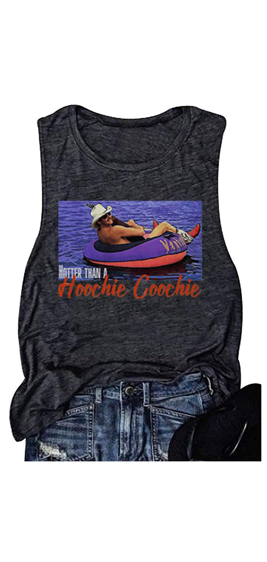 Hotter Than A Hoochie Coochie Country Music Tank Tops Vintage T